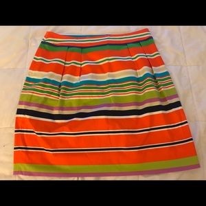 Kate Spade New York bright spring stripe skirt 6